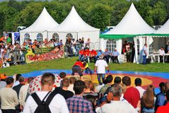 Sabantui beröm i Moskva Brottarekonkurrens arkivfoton