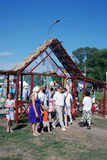 Sabantui celebration in Moscow Royalty Free Stock Image