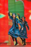 Sabantui celebration in Moscow. Two women performers Stock Photo