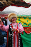 Sabantui celebration in Moscow. Woman in national costume stock images