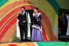 Sabantuiviering in Moskou Uitvoerders op stadium royalty-vrije stock foto's