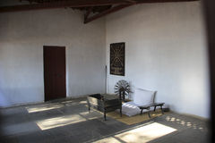 Sabarmathi聚会所的博物馆 免版税图库摄影