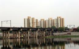 Sabarmati Ahmedabad. Sabarmati Iron Bridge View at Ahmedabad - Gujarat india Stock Images