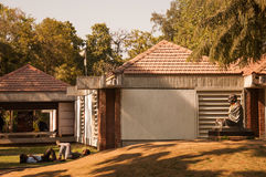 Sabarmati Ashram. This is Ghandi's first Ashram in Ahmadabad, India. The Ashram was then shifted to a piece of open land on the banks of the river Sabarmati to Royalty Free Stock Image