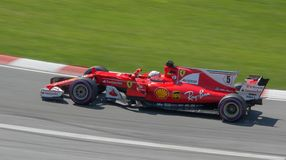 Sabastian Vettel # 5 at Montreal Stock Images