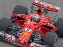 Sabastian Vettel w Montreal 2017 Obrazy Royalty Free