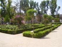 Sabatini庭院在马德里,王宫 免版税库存照片