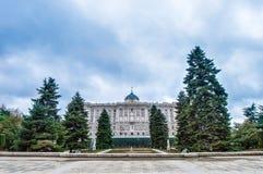 Sabatini庭院在马德里,西班牙 免版税库存图片