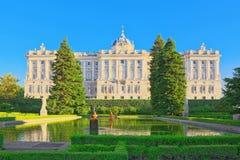 Sabatini Gardens Jardines de Sabatini and building of  Royal P Stock Images
