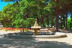 Sabatini Gardens Jardines de Sabatini sind ein Teil des königlichen PAs lizenzfreie stockbilder