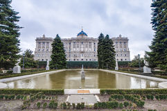 The Sabatini Gardens in Madrid, Spain. Royalty Free Stock Images