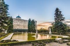The Sabatini Gardens in Madrid, Spain. Stock Photos
