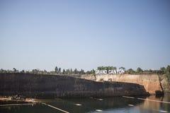 Sabato 24 Decenber 2016 nel parco dell'acqua di Chiangmai del Grand Canyon fotografia stock libera da diritti