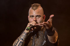 Sabaton. On Masters of Rock 2012 Royalty Free Stock Photo