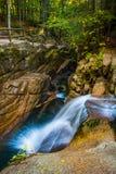 Sabbaday Falls, along the Kancamagus Highway in White Mountain N Royalty Free Stock Photos