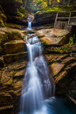 Sabbaday Falls, along the Kancamagus Highway in White Mountain N stock photo