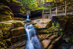 Sabbaday Falls, along the Kancamagus Highway in White Mountain N Stock Photography