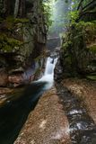 Sabbaday Falls Vertical, White Mountains stock image
