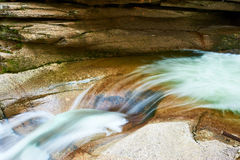 Sabbaday Falls in White Mountain National Forest Stock Photos