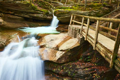 Sabbaday Falls in White Mountain National Forest Stock Images