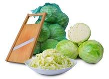 Sabbage und Salatschneidmaschine Stockfoto