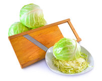 Sabbage und Salatschneidmaschine Lizenzfreies Stockfoto