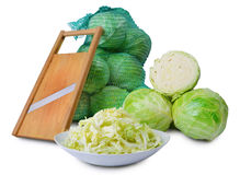 Sabbage y máquina de cortar de la ensalada Foto de archivo