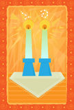 Sabbath Candles Royalty Free Stock Images