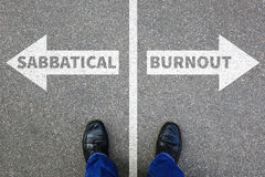 Sabbatical burnout stress stressed relax relaxed health business Royalty Free Stock Image