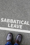 Sabbatical leave break sabbath job stress burnout business conce Royalty Free Stock Image