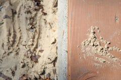 Sabbia al campo da giuoco Immagini Stock