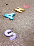Sabbia bagnata immagine stock