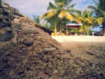 Sabbia bianca Fotografie Stock Libere da Diritti
