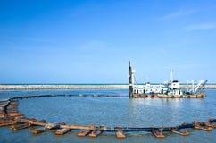 Sabbia che succhia barca Fotografia Stock Libera da Diritti