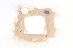 Sabbia con le pietre Immagini Stock Libere da Diritti
