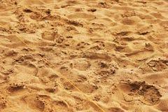 Sabbia, corda e struttura dell'erba fotografie stock