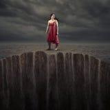 Sabbia d'affondamento Fotografie Stock