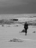 Sabbia del cielo del mare della ragazza Fotografia Stock Libera da Diritti