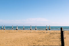 Sabbia del mare della spiaggia Fotografia Stock