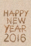 Sabbia del nuovo anno 2016 Fotografie Stock