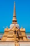 Sabbia del Pagoda alla spiaggia di Bangsan Immagini Stock Libere da Diritti