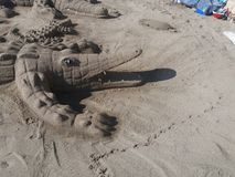 Sabbia dell'alligatore Fotografia Stock Libera da Diritti