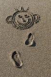 sabbia dell'illustrazione Fotografia Stock Libera da Diritti