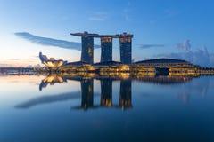 Sabbia della baia del porticciolo, Singapore Fotografie Stock Libere da Diritti