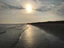 Sabbia della spiaggia del mare Immagini Stock