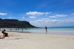 Sabbia della spiaggia di Hoek del pesce immagine stock libera da diritti