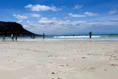 Sabbia della spiaggia di Hoek del pesce fotografie stock