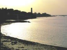 Sabbia della spiaggia e sera delle feste immagine stock libera da diritti