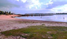 Sabbia della spiaggia in Olanda Immagine Stock Libera da Diritti