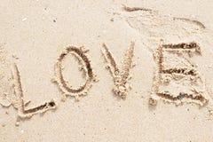 Sabbia di amore Fotografia Stock Libera da Diritti